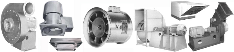 Industrial centrifugal fans, blowers, ventilators.