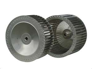 Industrial high temperature fan blower wheel blades.