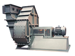 Industrial high pressure radial blower.