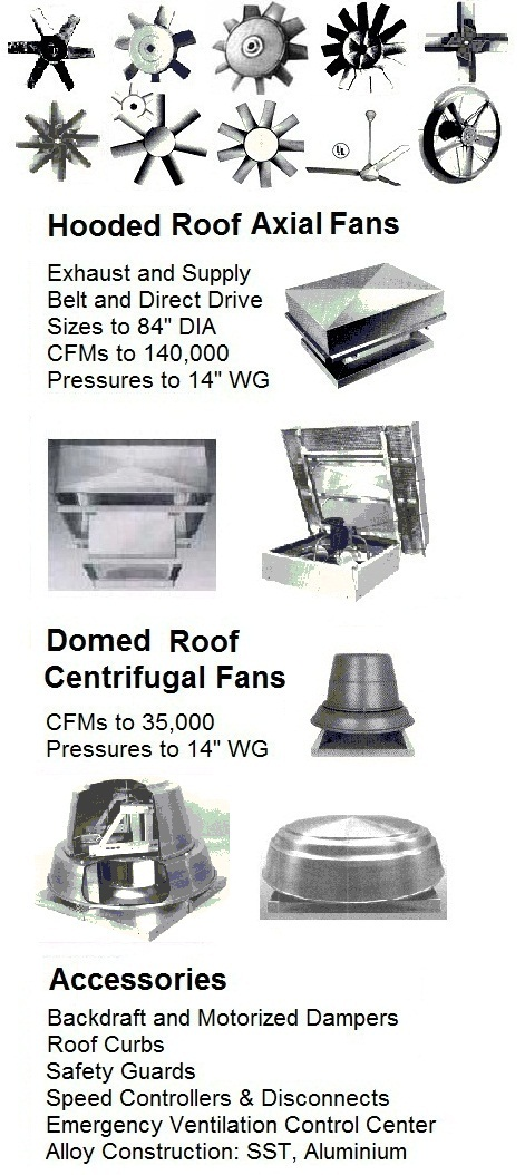Hooded roof exhaust fans ventilators