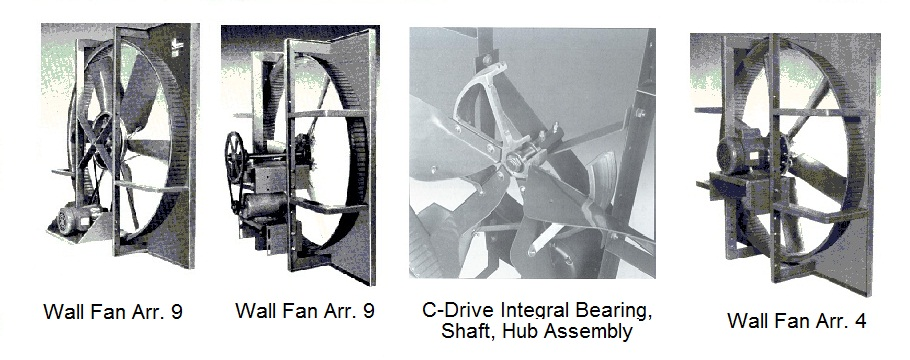 Wall ventilators, supply and eaxhaust wall and roof propeller fans.